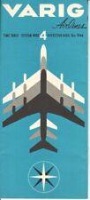 VARIG timetable 1966/08/10 European edition