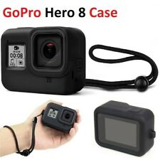 Silicone Protective Rubber Cover Skin Sport Camera Case W/Strap For GoPro Hero 8