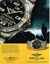 PUBLICITE ADVERTISING 104  2002  BREITLING   montre chronomètre aèrospace