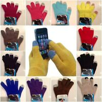 12 Pairs Winter Magic Stretch Warm Knit Gloves Texting Touch Screen Men Women US