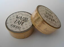 Dovecraft Gold Foil Best Wishes Washi Tape 6 metres for crafts