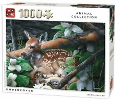 1000 Piece Animal Collection Jigsaw Puzzle - UNDERCOVER DEER IN FOREST 05389