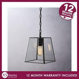 The White Company Brooklyn Small Pendant Ceiling Light Clear/Black RRP £100~~