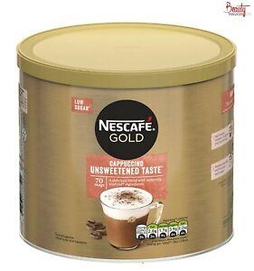 Nescafe Gold Unsweetened Cappuccino 1kg Tin - Cappo- Coffee- Cafe Style- Costa