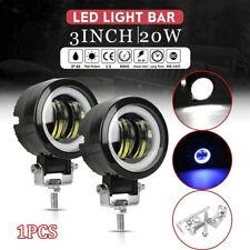 3''Inch 20W Motor White LED Spot Round Work Lights Driving Fog Lamp Offroad PodZ
