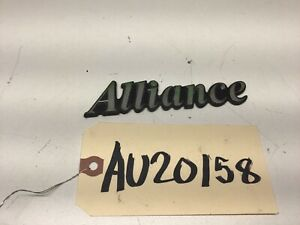 1983-1987 AMC RENAULT ALLIANCE TRUNK SCRIPT EMBLEM