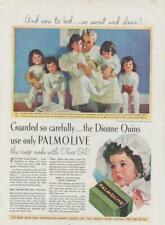 Dionne Quintuplets Three Year Old 1937 PRINT AD Palmolive Olive Oil  Rare
