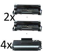 2 Trommel +4 XXL Toner kompatibel für Brother HL-5450D /  HL-5450DN / HL-5450DNT