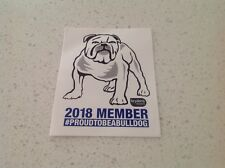 NRL BULLDOGS OFFICIAL MEMBERS TEAM STICKER, NEW, RUGBY CANTERBURY NSW league