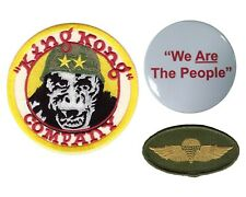 3pc Set Taxi Driver King Kong Company Costume Movie We People Patches and Pin