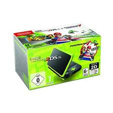 Nintendo 2ds XL Black and Lime Green Inc Mario Kart 7 Game UK
