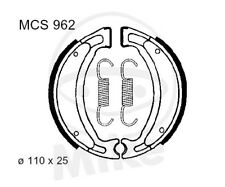 TRW Lucas ZAPATAS DE FRENO CON MUELLES mcs962 delant. Barossa / SMC Magna 170