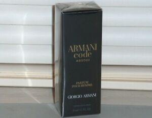ARMANI CODE ABSOLU Parfum Giorgio Armani Men's Travel Spray .5 oz, 15 ml NEW NIB