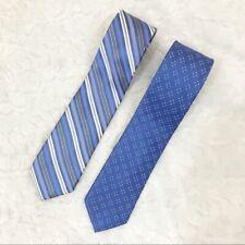 MICHAEL Michael Kors silk ties blue stripes