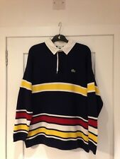 vtg Lacoste stripe jumper made in France size 6  large xl 80s casuals