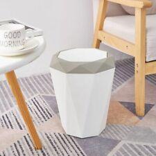 Trash Can Waste Paper Basket Bathroom Kitchen Hotel Dormitory Indoor Beige