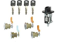 Ford Ignition Switch Lock Cylinder + Four (4) Door Lock Cylinder W/2 Logo Keys