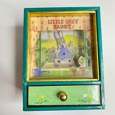 Vintage 1989 Little Grey Rabbit Animated Music Box Sankyo Margaret Tempest Japan