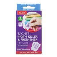Acana Moth Killer Sachets Lavender Freshener Fragrance Kills Moths Eggs
