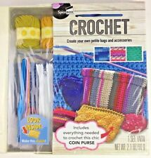 Spice Box Beginner's Crochet Kit For Coin Purse Brand NOS Yarn Hooks Educational
