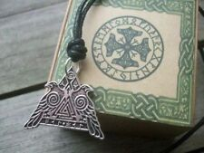 VALHALLA Necklace Warrior ODIN PROTECTION Raven Pendant Valknut Viking Amulet