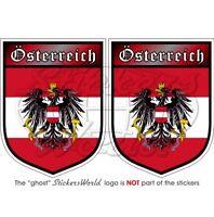 AUSTRIA Scudo AUSTRIACO Osterreich 75mm Adesivo in Vinile x2 Stickers