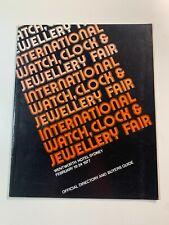 Australian International Watch & Jewellery Fair Brochures 1977