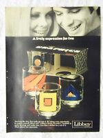 1970 Magazine Advertisement Page For Libbey Glassware Super Graphics Glasses Ad
