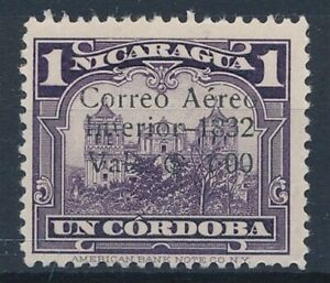 [35707] Nicaragua 1932 Good airmail stamp Very Fine Mint no gum signed