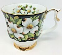 Vintage Royal Albert Bone China England Provincial Flowers Tea Cup Dogwood