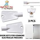 Freezer Door Key Replacement For Frigidaire Kenmore Electrolux Kelvinator GE 2pc photo