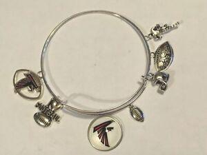 Atlanta Falcons 8 Charm Logo Bracelet Jewelry Silver Helmet Football 🏈 pick 8th