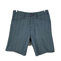 Quiksilver Mens Shorts Size 30 Grey Plaid Good Condition With Pockets