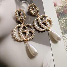 NEW Fashion big GG pearl earrings women big tassel dangle earring jewelry