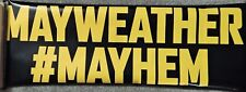 RARE BOXING MAYWEATHER JR VS MAIDANA  2014 YELLOW & BLACK SMALL BANNER