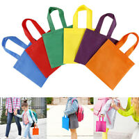 20Pcs Party Favor Bags Non-Woven Treat Bag Tote Bags with Handles Rainbow Color