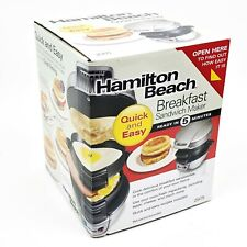 Hamilton Beach Breakfast Sandwich Maker Kitchen Appliance Grill Press New in Box