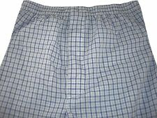 Club Room Men's Cotton/Poly Sailor White Plaid Sleep Night Lounge Pants Size S