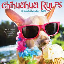 Chihuahua Rules (dog breed calendar) 2021 Wall Calendar (Free Shipping)