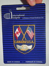 Vintage International Insignia Canada USA Embroidered Crest Sew On Patch