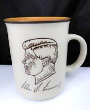Vintage JFK John F Kennedy Mug Cup Portrait Etched Quote  Kennedy Center Japan