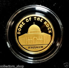 KAZAKHSTAN: Gold coin 500 tenge DOME OF THE ROCK Mosques JERUSALEM 2010 AU 999