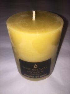 Beeswax Pillar Candle 100% Australian Beeswax 15cm x 7.5cm