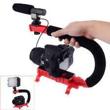 Video Action Stabilizing Handle Bracket for DV Camcorders DSLR Camera Red