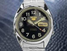 Seiko 5 Automatic 21 Jewels Vintage Japanese Mens Day Date Watch 1970 J28