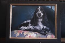 OIL ON BOARD COCKIER SPANIEL DOG FINE PAINTING image 19.5 by 14.5 by B.Johnson