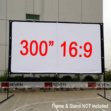 """300"""" 16:9 Large Size Projection Screen Curtain Film for Any DLP LED 3D Projector"""