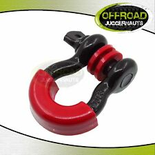 """3/4"""" Black 4.75 Ton D-ring Shackle With Red Isolator & Silencer Clevis"""