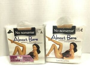 No Nonsense  Almost Bare Sheer Beige Mist Pantyhose Size A or C