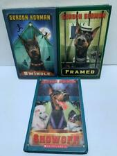 Gordon Korman lot of 3 books set SWINDLE FRAMED  SHOWOFF Hardcover